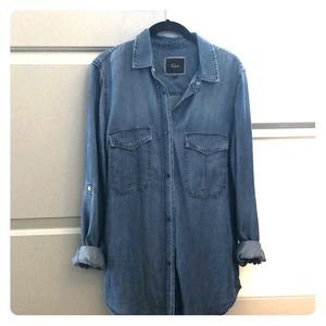 Oversized Chambray Button up